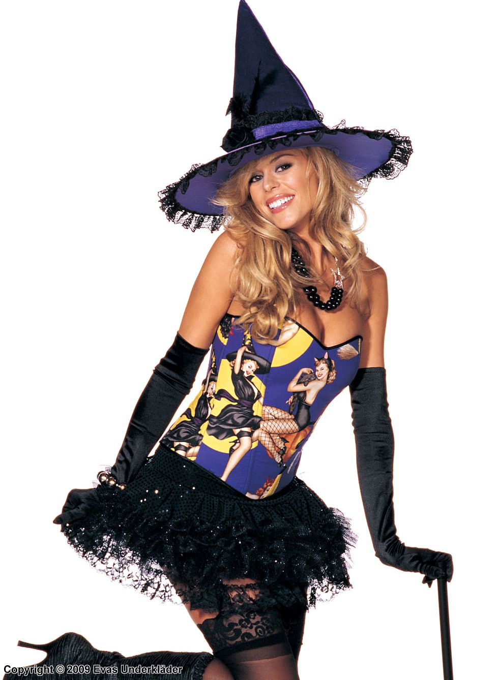 pin-up witch costume, plus size